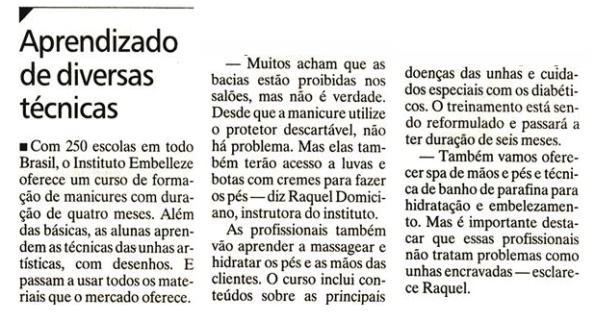 Matéria do Jornal Extra do R.J. do dia 23.10.11