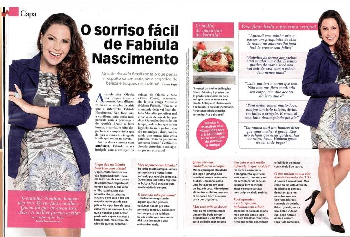 Entrevista Fabiula Nascimento - Revista Ana Maria